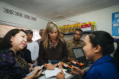 Queen Maxima of the Netherland Visit to Indonesia. Her Majesty Queen Máxima of the Netherlands has served as the UN Secretary-General's Special Advocate for Royalty Free Stock Photo