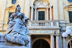 Queen. The monument to Queen Victoria (by Giuseppe Valenti, 1891) located in the prominent and popular square in front of the National Library - Republic Square stock images