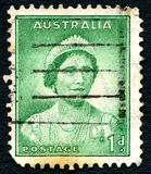 Queen Mother Vintage Australian Postage Stamp Royalty Free Stock Photos