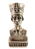 Queen Nefertiti isolated on white Royalty Free Stock Photography