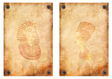 Queen Nefertiti, Pharaoh papyrus Royalty Free Stock Images