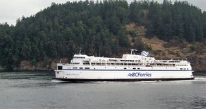 A Queen No More. The Queen of Saanich, under sail while part of the fleet of the British Columbia Ferry service. The vessel was originally built in 1962, was Royalty Free Stock Photos