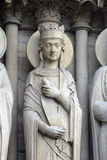 Queen, Notre-Dame cathedral, Paris Royalty Free Stock Photography