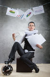 Queen of office, concept Stock Image