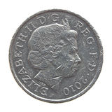 The Queen on One Pound coin Royalty Free Stock Image