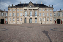 Queen palace Denmark copenhagen Amalienborg castle Stock Photography