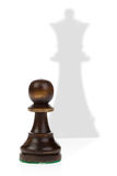 Queen and pawn Stock Photography
