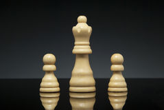 Queen and pawns Royalty Free Stock Photography