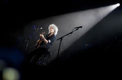 Queen perform onstage during charity concert in Kyiv Royalty Free Stock Photography