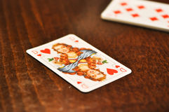 Queen poker card Royalty Free Stock Photo