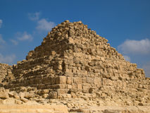Queen Pyramid of Henutsen. In Giza royalty free stock photography