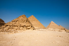 Queen Pyramid Menkaure Khafre Cheops Stock Images