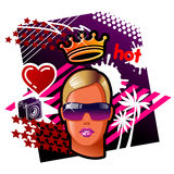 queen rave Στοκ φωτογραφίες με δικαίωμα ελεύθερης χρήσης
