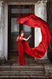 Queen in the red cloak Stock Photo