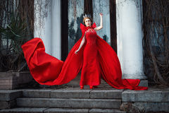 Queen in the red cloak Royalty Free Stock Image