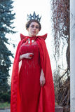 Queen in the red cloak Royalty Free Stock Images