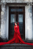 Queen in the red cloak Stock Image
