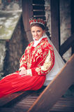 Queen in the red dress Royalty Free Stock Photos