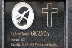 Queen Rosalie Gicanda grave Stock Image