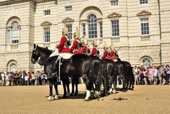 Queen´s Abdeckungen auf Pferden Lizenzfreies Stockfoto
