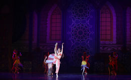 """Queen's ball- ballet """"One Thousand and One Nights"""" Royalty Free Stock Images"""