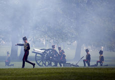 Queen's birthday Gun Salute Royalty Free Stock Photography