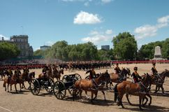 �the Queen�s Birthday Parade�. Stock Photography