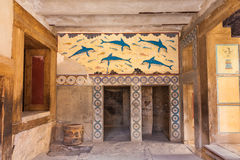Queen's chamber of Knossos. Queen's chamber  of legendary Knossos palace, Crete, Greece Royalty Free Stock Photo