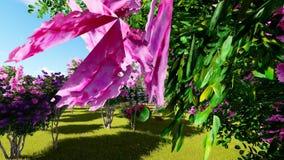 Queen's crape myrtle flower.(Lagerstroemia speciosa stock video