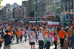 Queen's Day in Amsterdam Royalty Free Stock Image