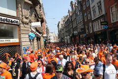 Queen's Day in Amsterdam,30th April 2011 stock photos