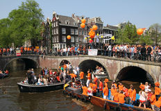 Queen's Day in Amsterdam,30th of April each Year royalty free stock photos