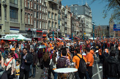 Queen's Day celebrations Stock Images