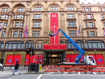 Queen's Diamond Jubilee decoration at Harrods Royalty Free Stock Photography