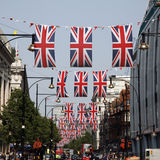 Queen's Diamond Jubilee decoration, Oxford Street Royalty Free Stock Image