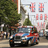 Queen's Diamond Jubilee decoration, Oxford Street Royalty Free Stock Photos