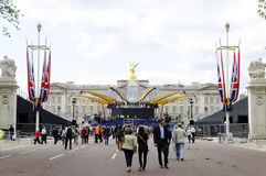 Queen's diamond Jubilee decoration and preparation Royalty Free Stock Images