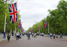 Queen's diamond Jubilee decoration and preparation Stock Image