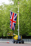 Queen's diamond Jubilee decoration and preparation Royalty Free Stock Image