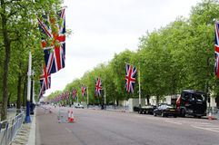 Queen's diamond Jubilee decoration and preparation Stock Images