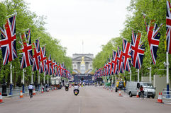Queen's diamond Jubilee decoration and preparation Royalty Free Stock Photography