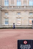 Queen`s foot guard at Buckingham Palace royalty free stock photo