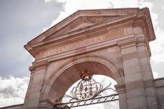 Queen`s Gate, La Granja de San Ildefonso, Spain. Queen`s Gate, La Granja de San Ildefonso, Segovia, Spain Royalty Free Stock Photography