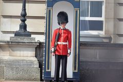 Queen`s Guard at alert royalty free stock images