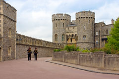 Queen's Guard soldiers in Windsor Castle, UK Stock Photo