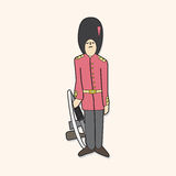 Queen's Guard theme elements vector,eps Royalty Free Stock Photos