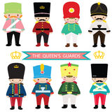 Queen's Guards, toy soldier,nutcracker,UK Guards,UK soldier. The Queen's Guard and Queen's Life Guard (called King's Guard and King's Life Guard when the royalty free illustration