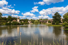 The queen's hamlet near Versailles palace. View of old hamlet of the Queen Marie-Antoinette's estate near Versailles palace, paris, France stock photography