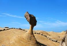 Queen`s head Stone on Yehliu Geopark, Taipei, Taiwan royalty free stock photography