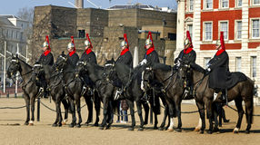 Queen's Horse Guard on duty. Royalty Free Stock Photography